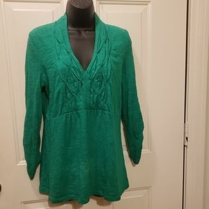 Deletta Anthropologie Top Green Med